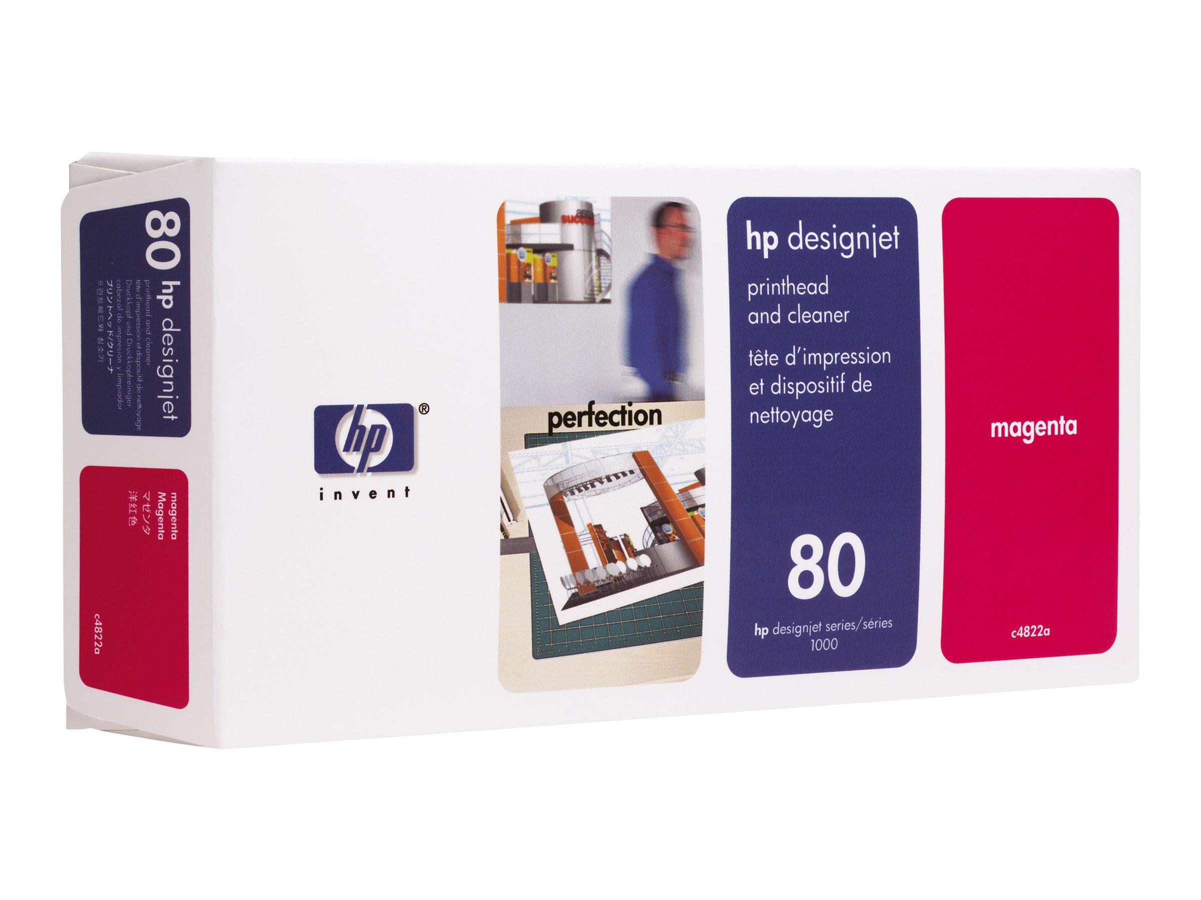 HP 80 - Magenta - tête d'impression avec nettoyeur