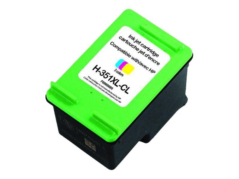 UPrint H-351XL-CL - taille XL - couleur (cyan, magenta, jaune) - cartouche d'encre (équivalent à : HP CB338EE)