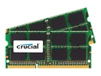 Crucial DDR3 16 GB : 2 x 8 GB SO DIMM 204-PIN 1600 MHz / PC3-12800