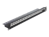 "DeLOCK Keystone Patch Panel Patch-panel sort 1U 19"" 24 porte"