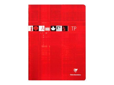 Clairefontaine - Cahier de travaux pratiques - 24 x 32 cm - 80 pages - uni, Grands carreaux - disponible dans différentes couleurs