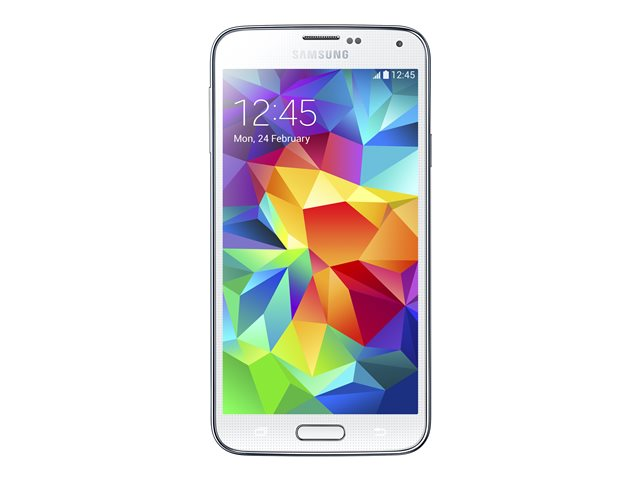 Image of Samsung Galaxy S5 - shimmery white - 4G LTE - 16 GB - GSM - Android smartphone