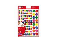 APLI kids - Adhésif décoratif - 624 gommettes - disponibles en ronds, carrés, ou triangle - différentes couleurs disponibles