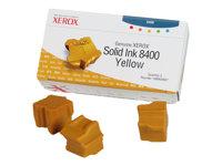 XEROX - GENUINE SUPPLIES Tintas sólidas - 3 x amarillo - 3.400 páginas - Para Phaser 8400108R00607