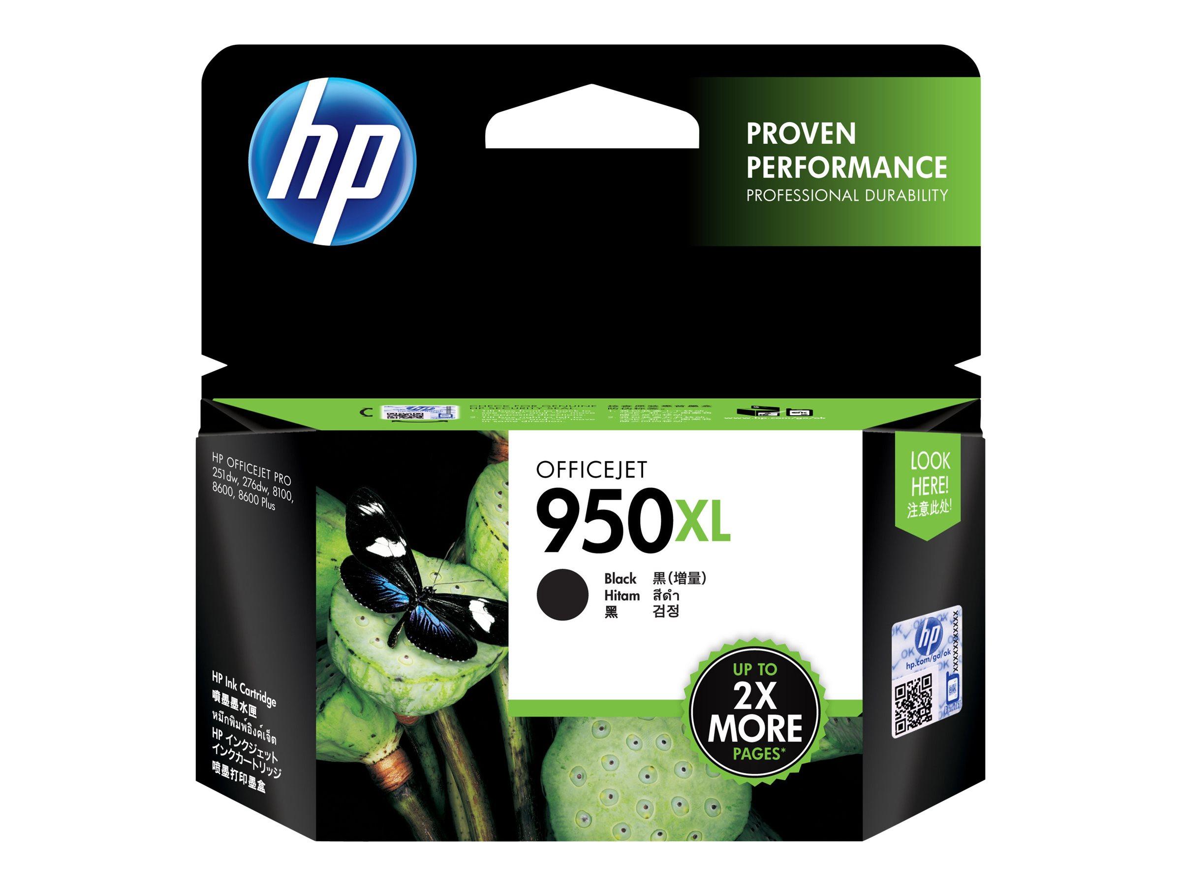HP 950XL - à rendement élevé - noir - originale - Officejet - cartouche d'encre