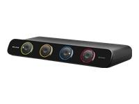 Belkin SOHO KVM Switch VGA & PS/2, USB - commutateur écran-clavier-souris/audio/USB - 4 ports - Ordinateur de bureau