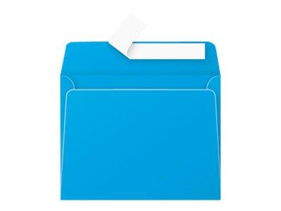 Pollen - Enveloppe - 90 x 140 mm - autocollant - turquoise - pack de 20