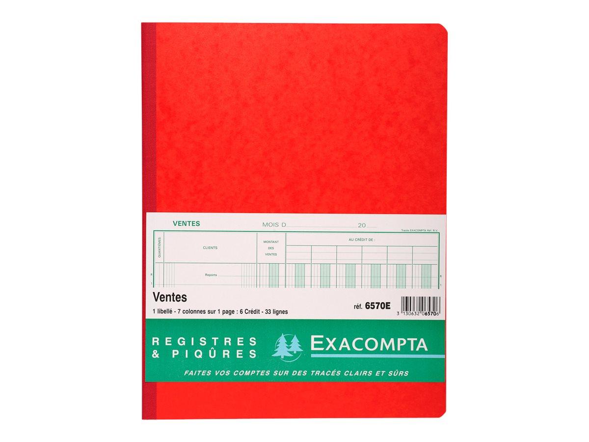 Exacompta - Livre de comptes vente - 80 feuilles - 7 colonnes - 320 x 250 mm
