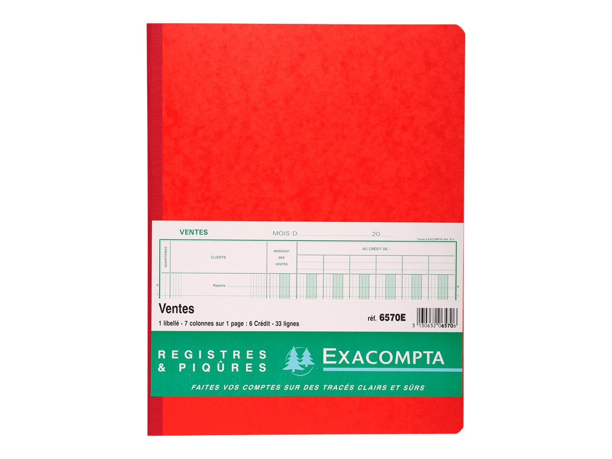 Exacompta - Livre de comptes - 80 feuilles - 7 colonnes - 320 x 250 mm