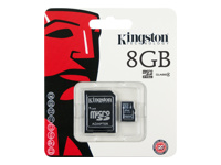 Kingston M�moires Secure Digital SDC4/8GB