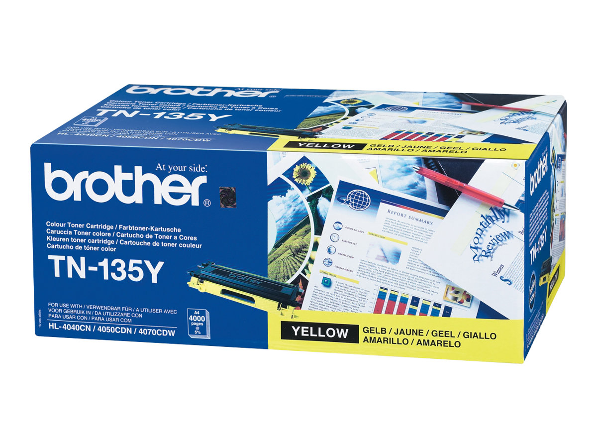 Brother TN135Y - jaune - originale - cartouche de toner