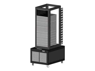 Uptime Racks Modular Rack Cooling System 13 Open frame rack