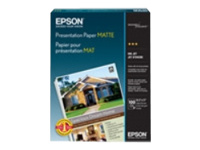Epson Presentation - Smooth matte - 4.9 mil - bright white - Super B (13 in x 19 in) - 102 g/m² - 100 sheet(s) paper - for Expression Photo HD XP-15000; SureColor P5000, P800, SC-P20000; WorkForce WF-7720, 7725