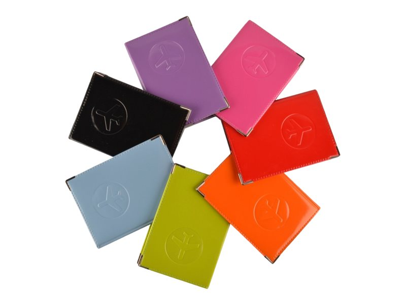 Color Pop Glossy Passport - couverture de protection de document pour documents