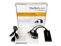 StarTech.com Adaptador Conversor VGA a HDMI con Audio USB y Alimentación - Cable Convertidor Móvil de HD15 a HDMI - 1080p