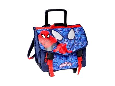 cartable spiderman 41cm 2 compartiments roulettes cartables roulettes. Black Bedroom Furniture Sets. Home Design Ideas