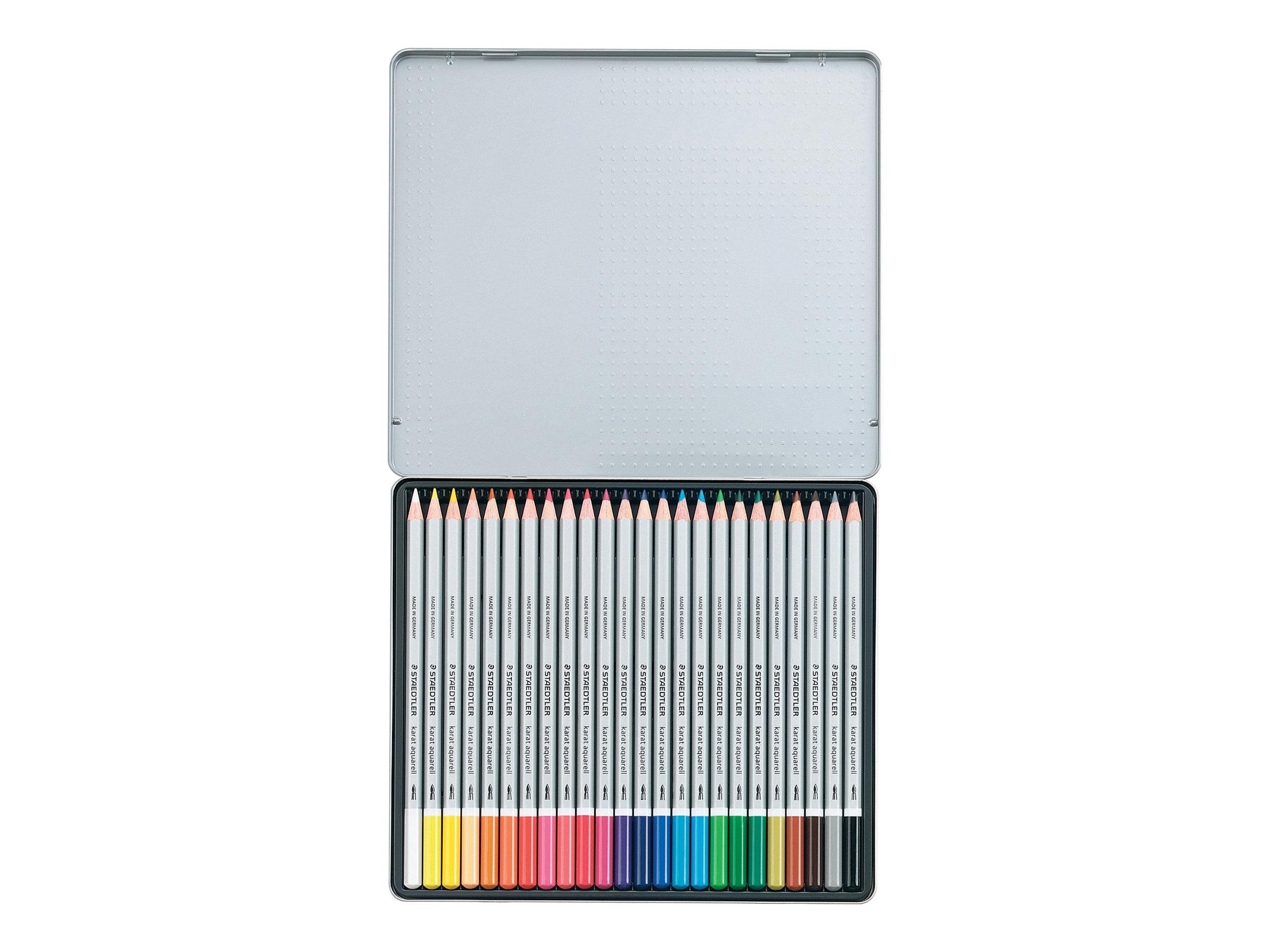 STAEDTLER karat aquarell 125 - Crayon de couleurs - couleurs assorties - 2 mm - disponible par 24 ou par 36
