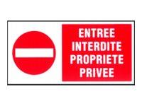 Pickup - Plaque de signalisation - 300 x 150 mm - entrée interdite 1