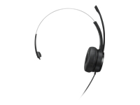 Lenovo 100 - Headset - on-ear - wired - USB-A - black - for Flex 5G 14Q8CX05; Legion 5 15IMH05; 5P 15ARH05; V14 G2 ALC; V15 IML; V50s-07; V55t-15