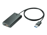HP - External video adapter - USB 3.0 - DisplayPort - for EliteDisplay E202, E220, E222, E240, E242, E272; ProDesk 600 G2; ProOne 400 G2, 600 G2