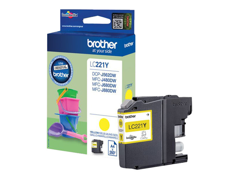 Brother LC221Y - jaune - originale - cartouche d'encre