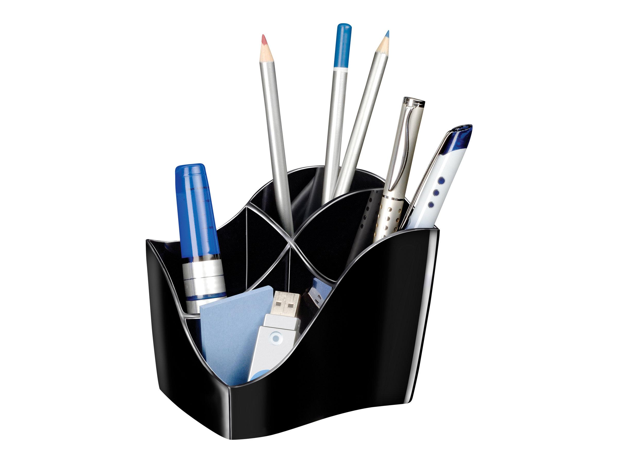 HAN SCALA - Pot à crayons - plastique - blanc