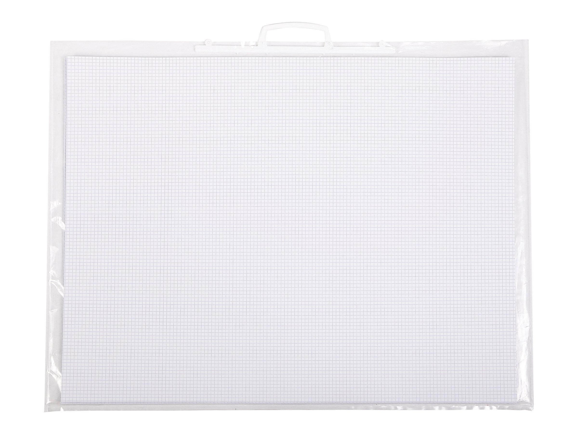 Clairefontaine A2+ - Feuille bristol - 50 x 65 cm - extra blanc - quadrillé - 5x5