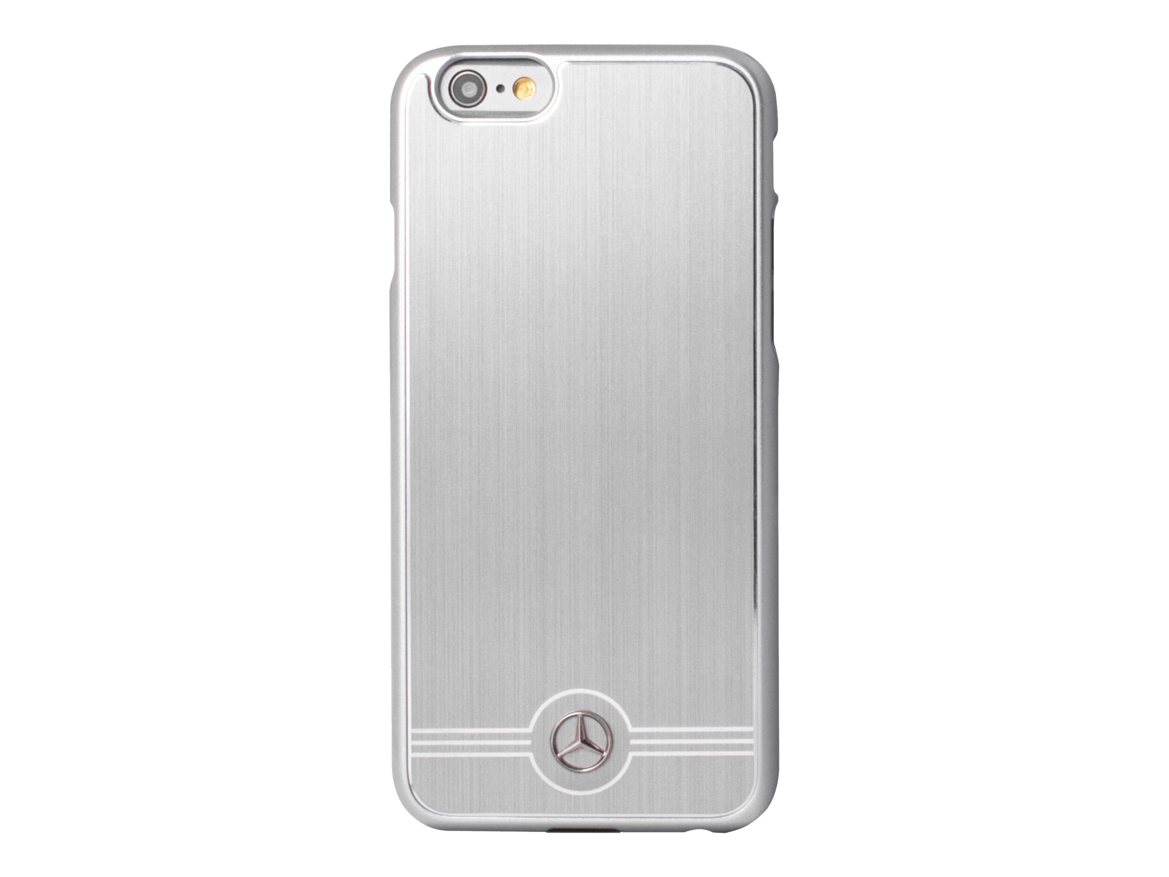 MERCEDES - Coque de protection pour iPhone 6 Plus, 6s Plus - aluminium - gris