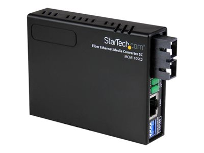 StarTech.com Conversor de Medios Ethernet RJ45 a Fibra Óptica Multimodo SC