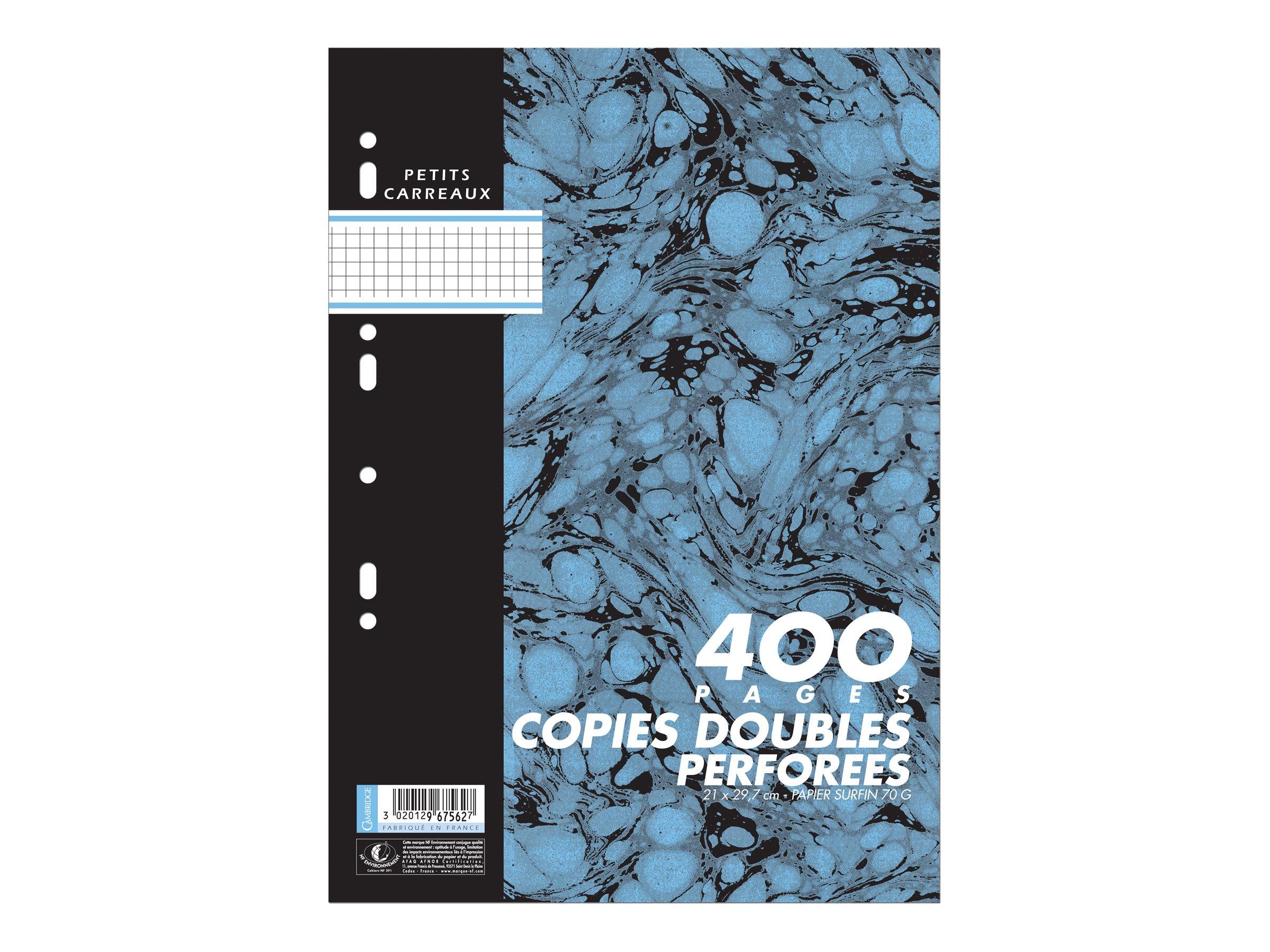 Cambridge - 400 Feuilles doubles -- A4 - petits carreaux