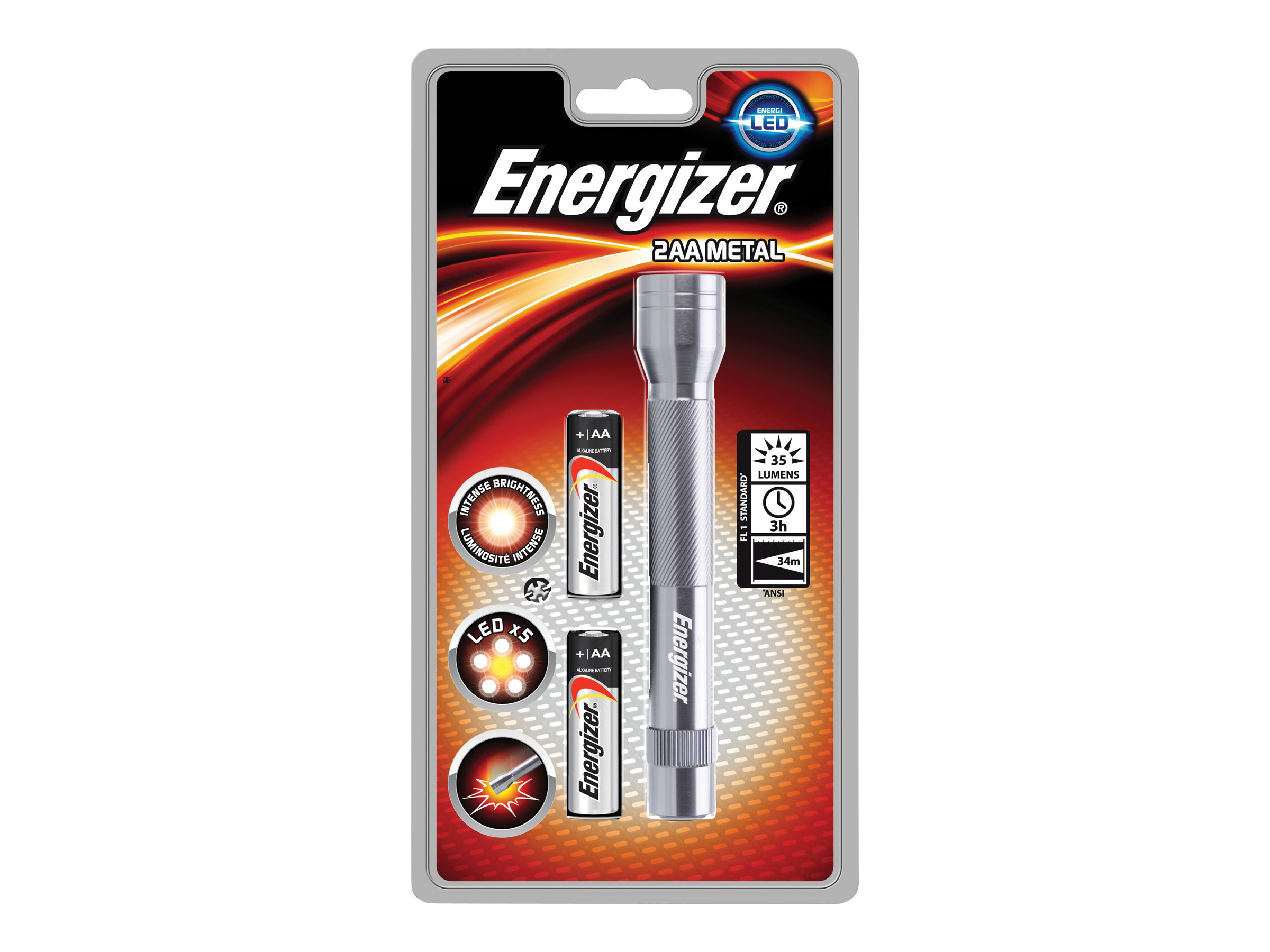 Energizer Value Metal - lampe torche - LED