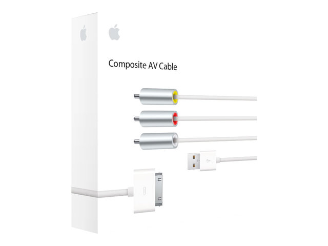 Image of Apple Composite AV Cable - iPad / iPhone / iPod audio / video / charging cable - composite video / audio