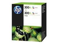 HP 300XL Tri-colour Ink Crtg Twin Pack, HP 300XL Tri-colour Ink