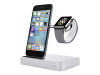 Belkin Charge Dock - Phone / smart watch charging stand - for Apple iPhone 5, 5c, 5s, 6, 6 Plus; Watch