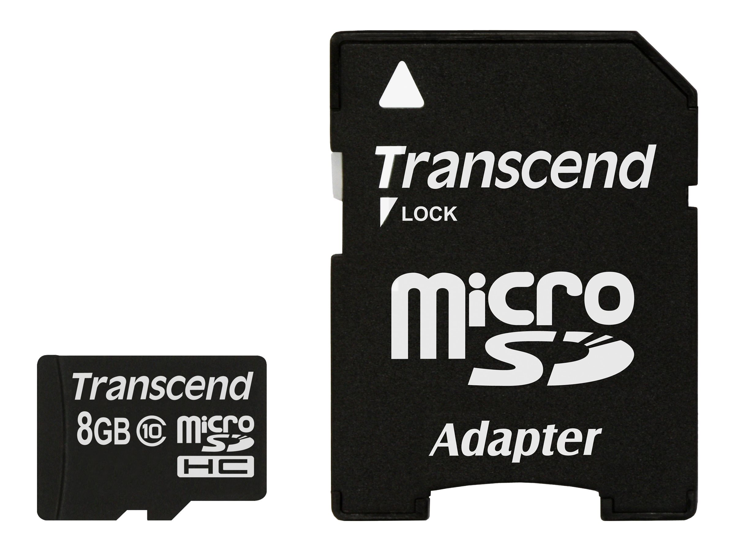 Transcend Premium - carte mémoire flash - 8 Go - microSDHC