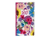 Oberthur Bloom 16 Office - Agenda - 2017 - semainier - 89 x 165 mm - couverture bleue, couverture fushia