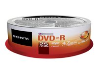 X DVD Grabable DVD-R 4.7GB - Bobina 2525DMR47SP