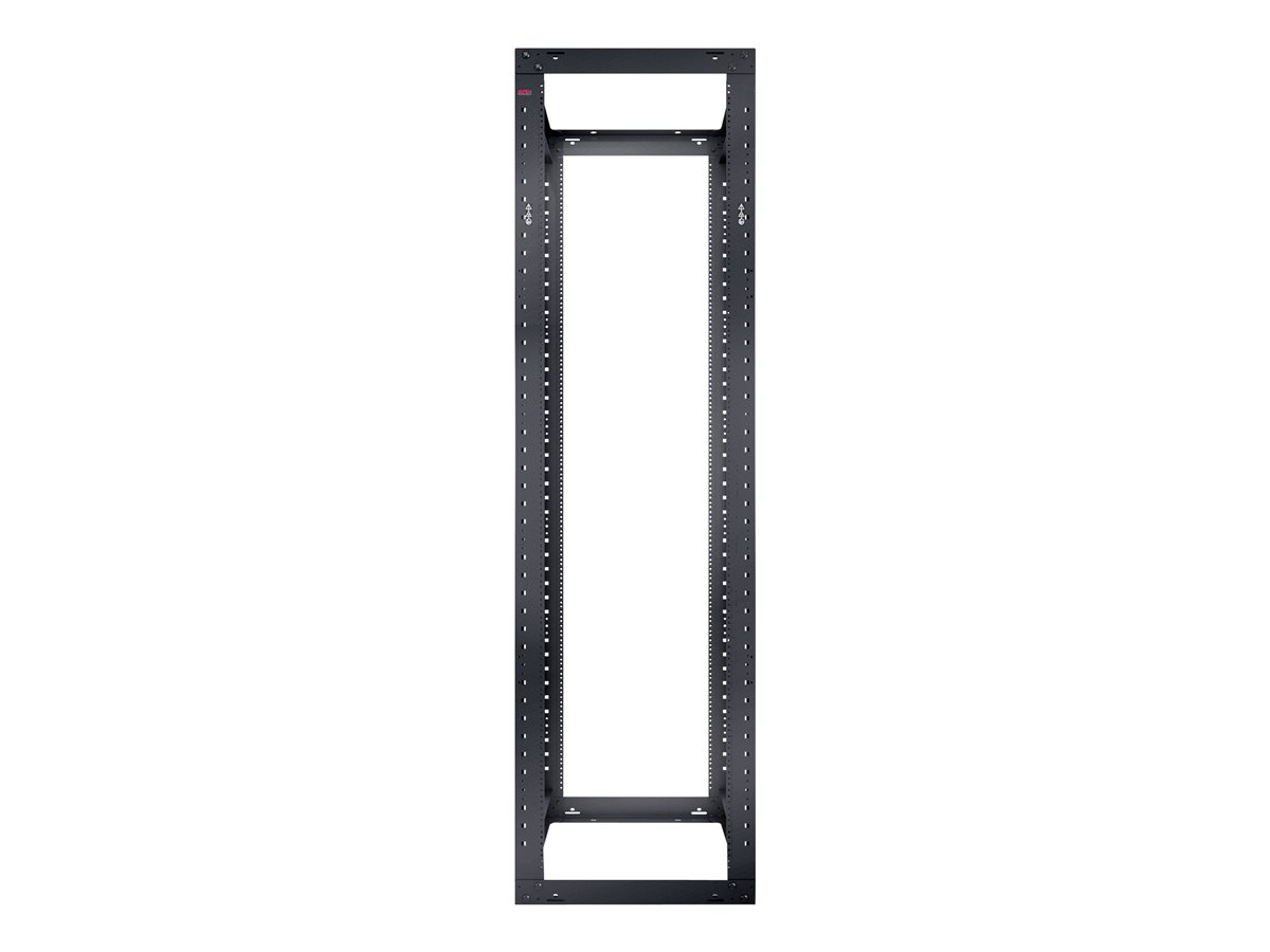 apc ar204a netshelter 4 post open frame rack 44u  1