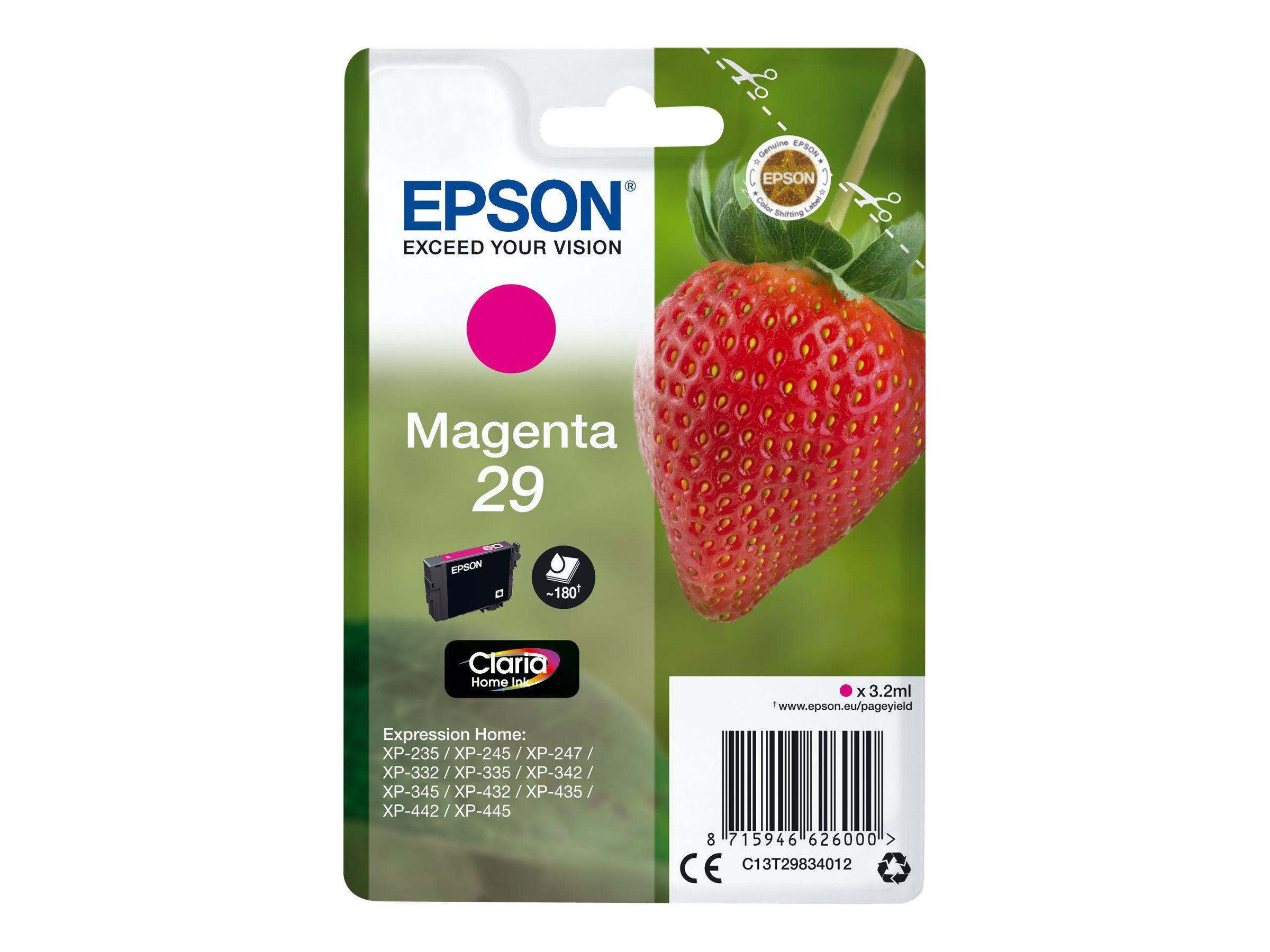 Epson T29 - fraise - magenta - originale - cartouche d'encre