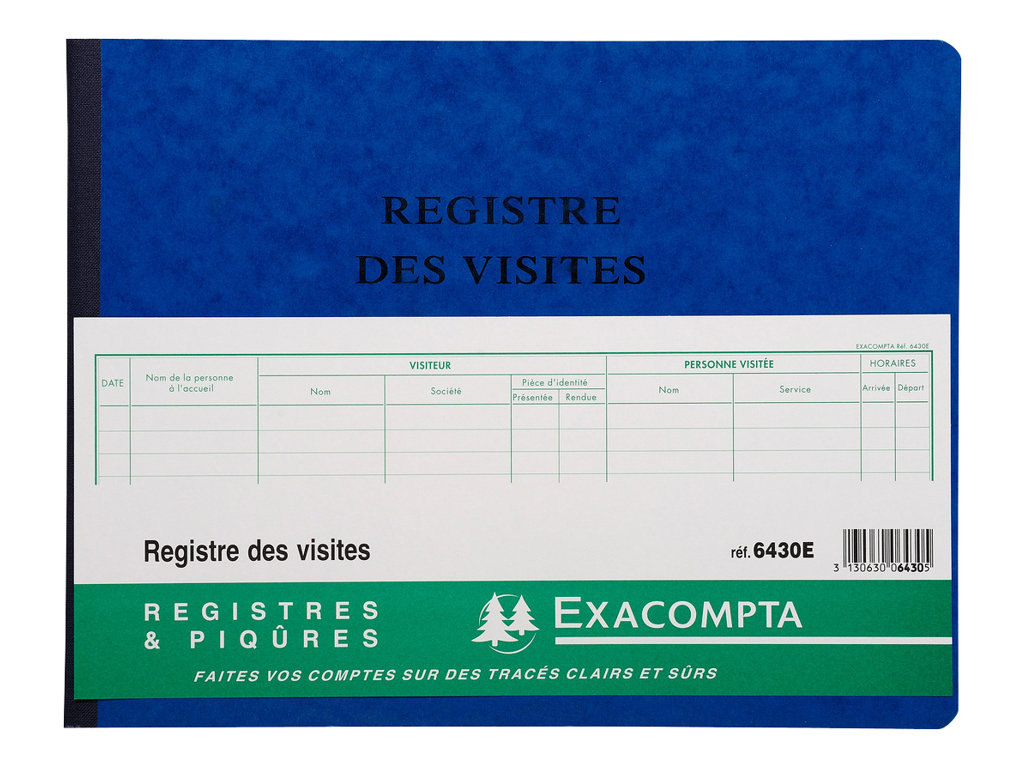 Exacompta - Registre des vistes - 80 pages - 320 x 250 mm - paysage