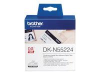 Brother DKN55224 Papir sort på hvid