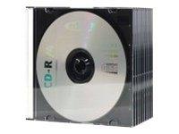 Ednet CD Slim Cases 5 Mm - Boîtier fin de stockage pour CD/DVD