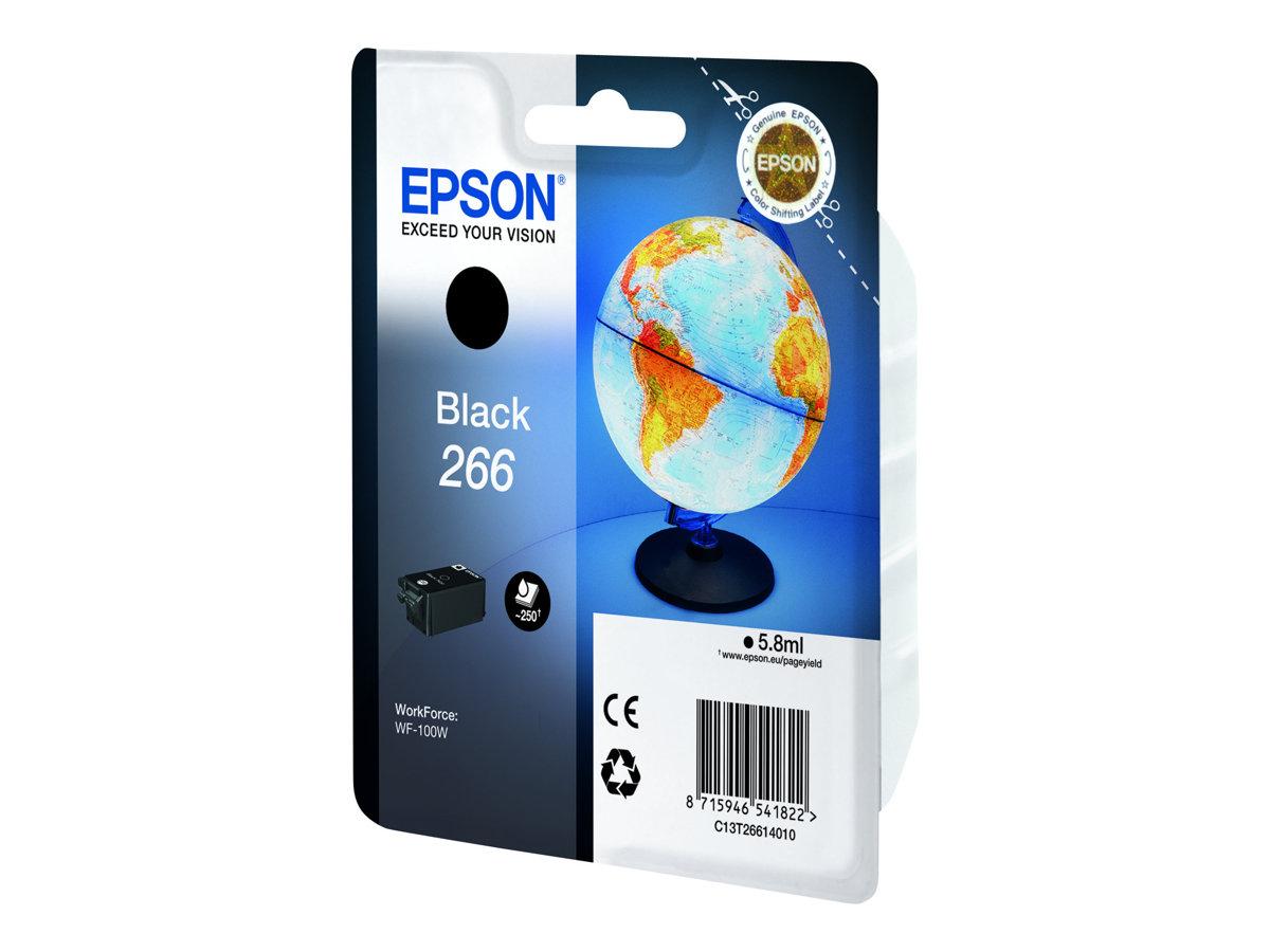 Epson T266 - globe - noir - originale - cartouche d'encre