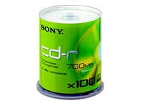 Sony CD-R/W et DVD-R 100CDQ80SP