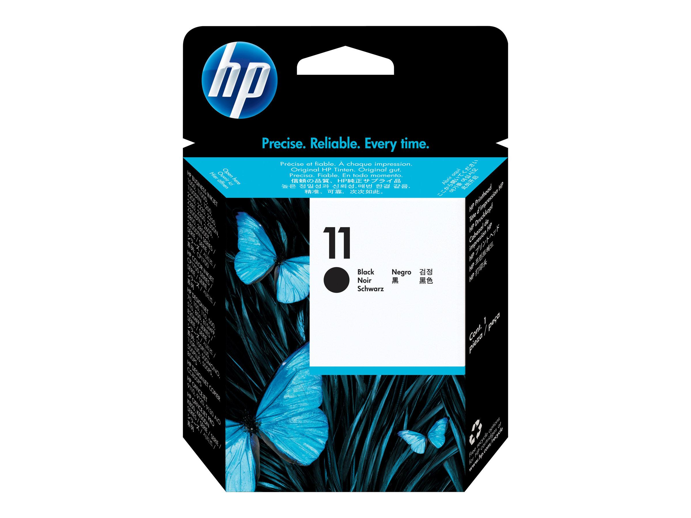 HP 11 - noir - tête d'impression