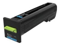Lexmark - Cyan - original - toner cartridge LCCP, LRP - for Lexmark CS820, CX820, CX825, CX860