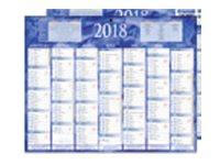 CBG Bleu 215 - Calendrier 2017 - 7 mois par face - 210 x 265 mm