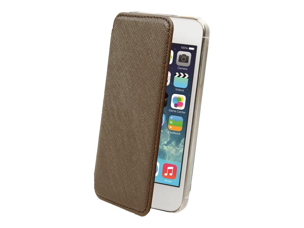 Muvit Crystal Folio - Protection à rabat pour iPhone 5, 5s - bronze
