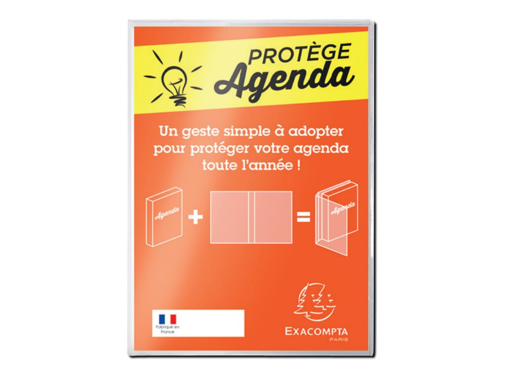 Exacompta - Protège agenda - 120 x 170 mm - transparent