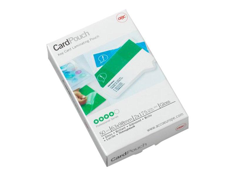 GBC Card Laminating Pouch - pack de 100 - brillant - pochettes plastifiées